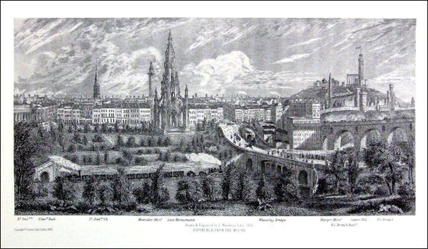 Edinburgh from the mound doby 1875